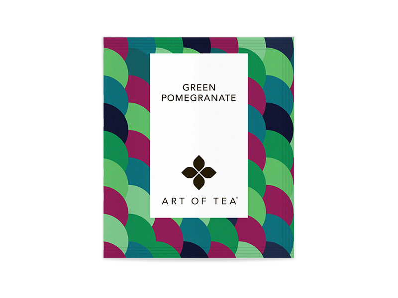 Green Pomegranate Eco Pyramid Teabags - Bulk Packed