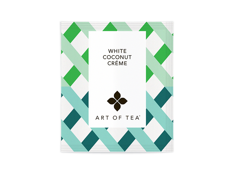 White Coconut Creme Tea Eco Pyramid Teabag - Bulk Packed